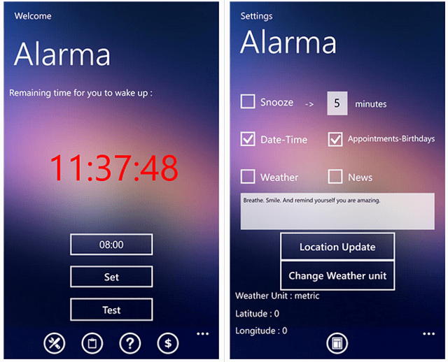alarma-windows-phone-alarm-clock-app Alarma App Will Wake You Up With Voice