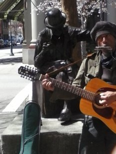There are always wonderful, very very talented street musicians on the main drag. I mean talented!