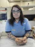 I took this pic formy daughter. This is one of their mail persons. Nice nice lady.