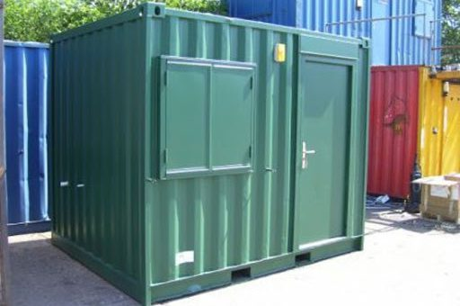 10' modified shipping container
