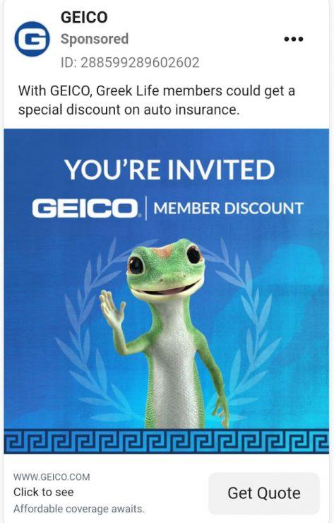 GEICO membership ad
