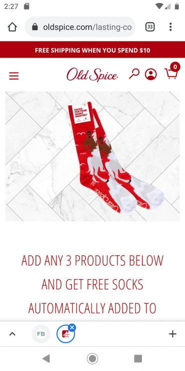 Old Spice's mobile landing page.