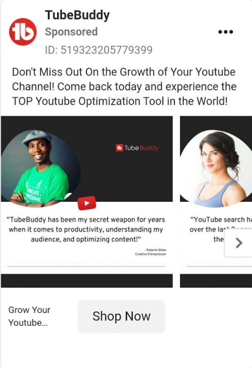 TubeBuddy ad