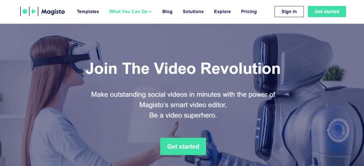 Magisto app home