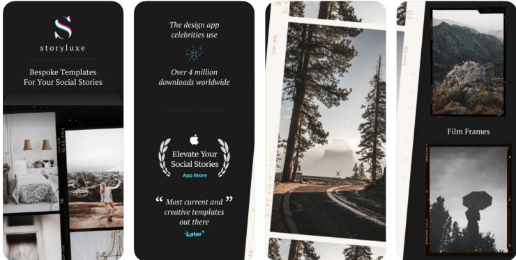 Storyluxe app screenshots