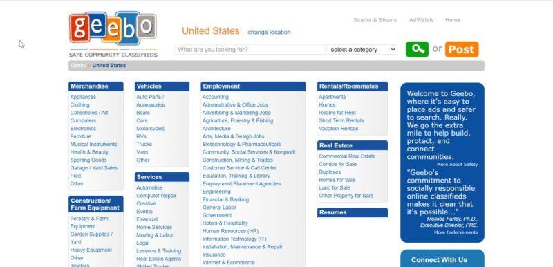 Best Free Ad Sites: Geebo
