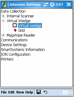 Virtual Wedge Configuration