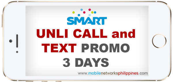 Smart Unli Call and Text 3 Days Promo