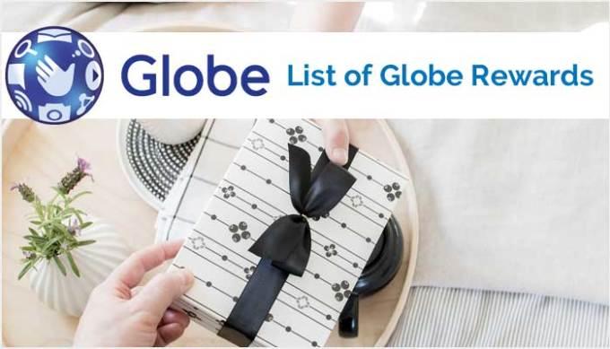 List of Globe Rewards