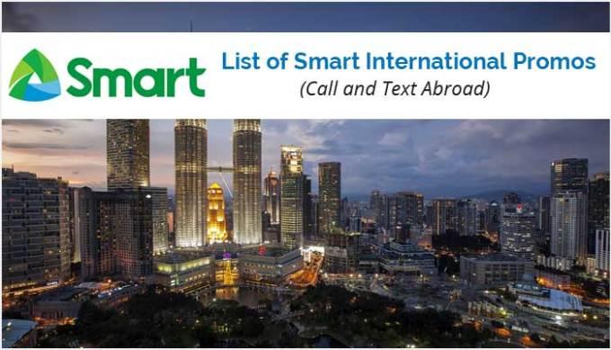 List of Smart International Promos