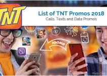 TNT Promos 2018