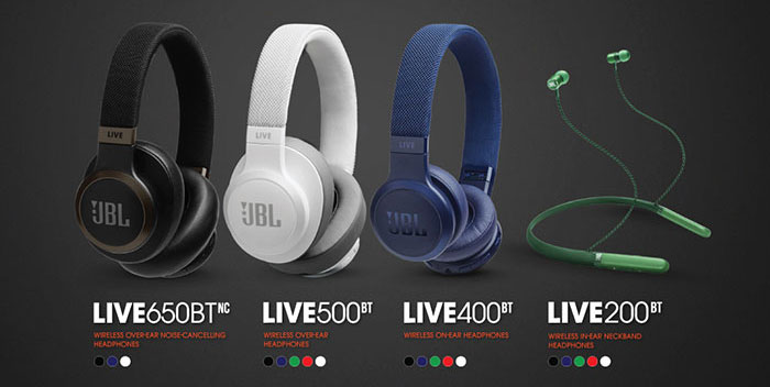 Started! JBL Live Series Bluetooth headphones, voice
