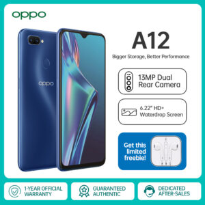 OPPO A12 6.2inch 4GB RAM 64GB ROM Cellphone 13MP Al Dual Camera 4230mAh Battery Smartphone