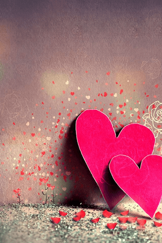Download Cute Together Hearts Iphone Wallpaper  Mobile