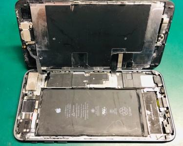 iPhone 8Plus 海で水没 リンゴループ 基板修理 データ復旧
