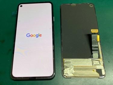 Google Pixel 4a (5G) 画面が表示しない パネル交換修理