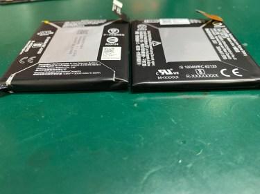 Google Pixel 3a バッテリー交換と充電差込口の修理