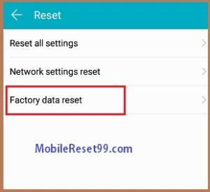 Factory Reset- Factory Reset