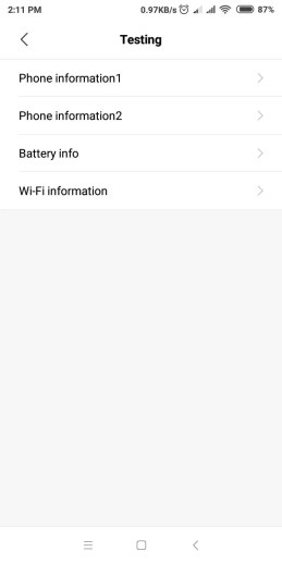 Android Secret Code - Display information about Android Phone, Battery and Usage statistics