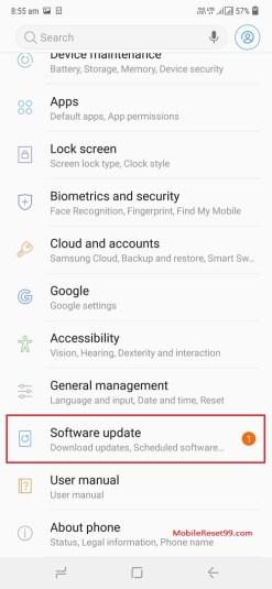 Samsung Settings app