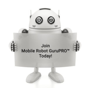 Robot with join us sign