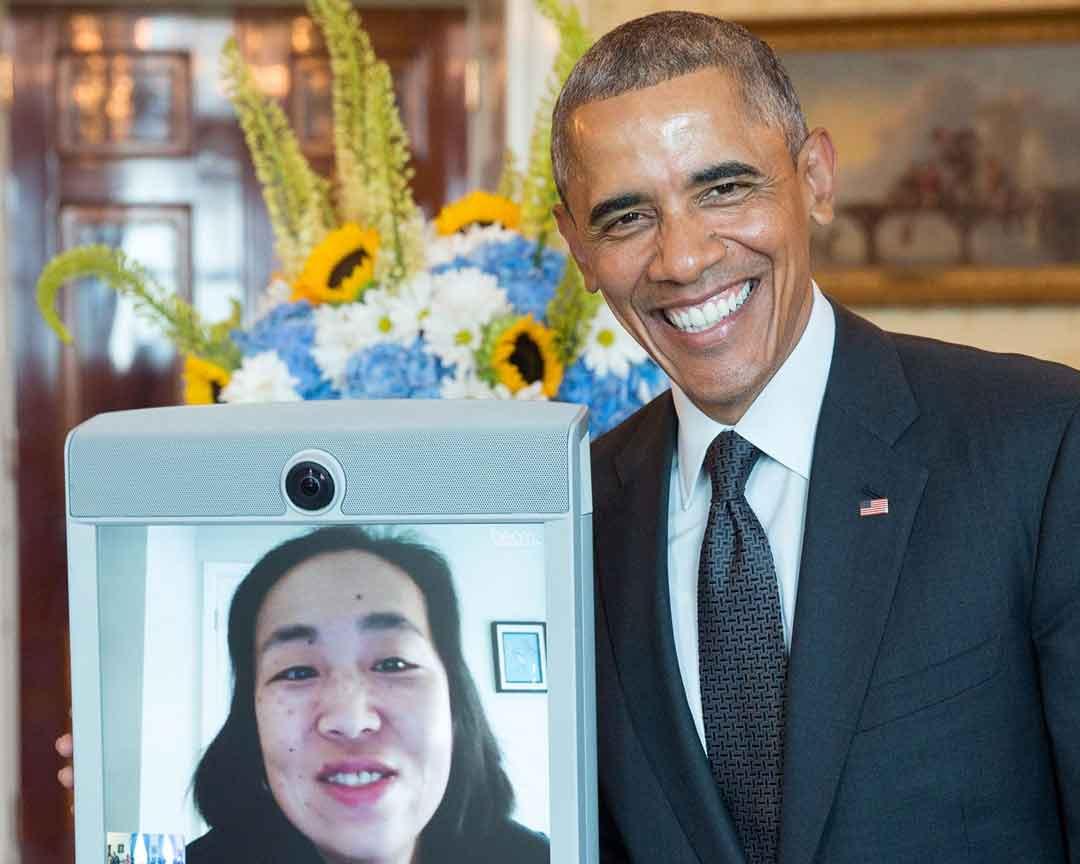 Beam Robot with Obama
