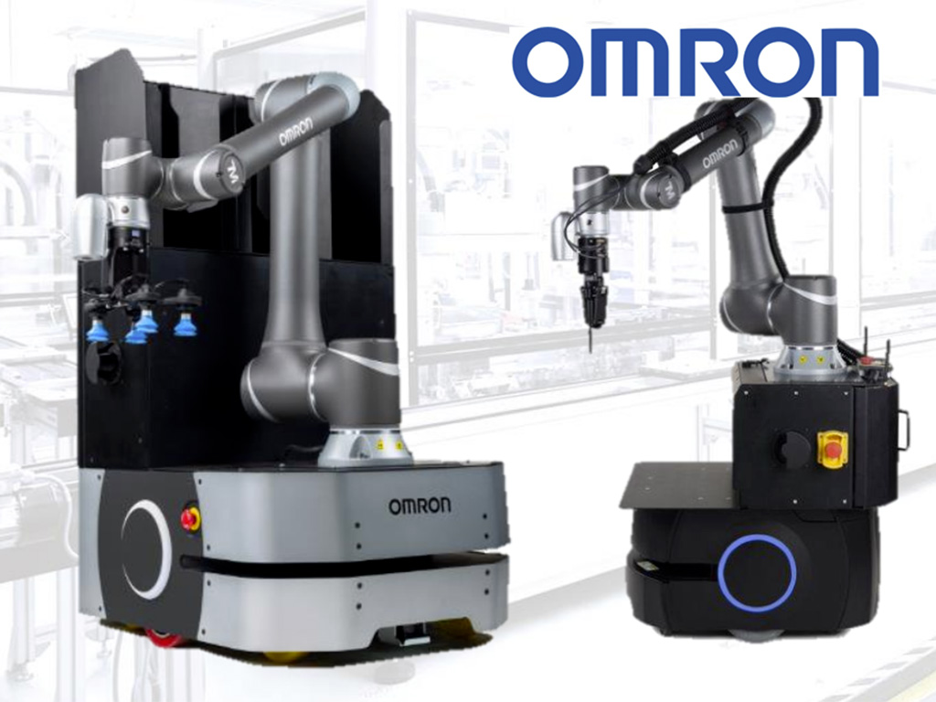 Omron AMR with collaborative robot on top