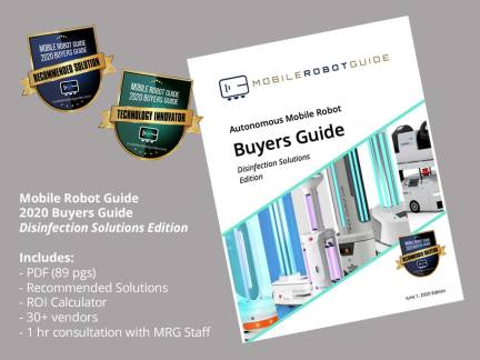 Mobile Robot Buyers Guide showing document cover and award badges