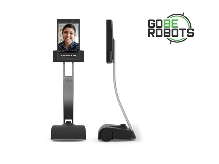 GoBe tele-presence robot with large logo