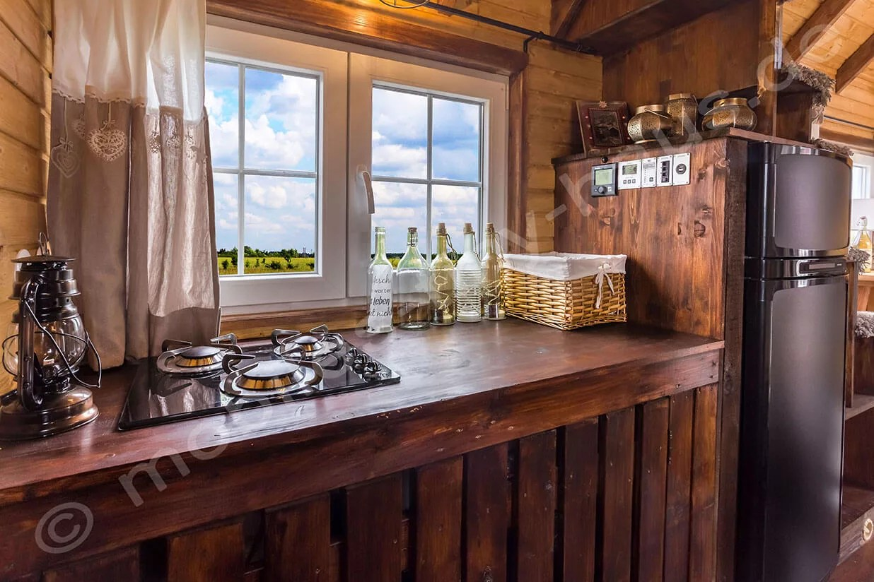 hight resolution of cooking area wooden house sweden