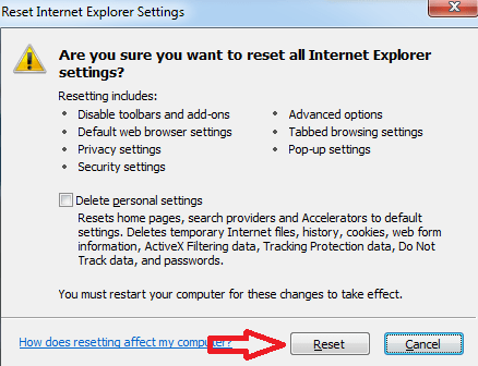 Get rif of ads by from Internet Explorer confirm