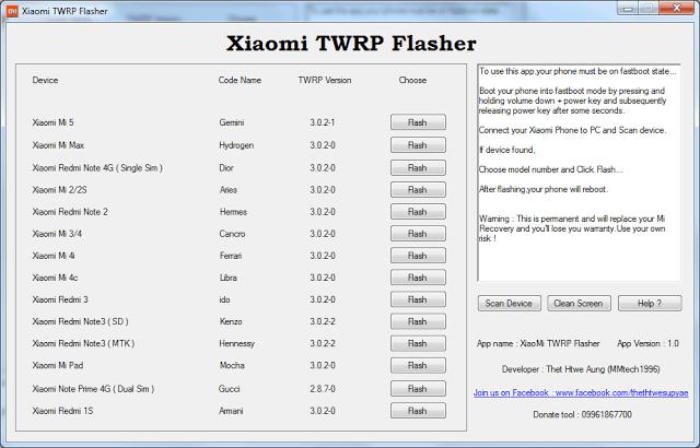 Xiaomi TWRP Flasher v1.0
