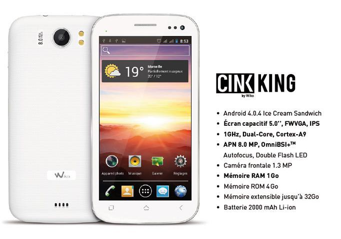 Wiko Cink King Stock Firmware Android ICS 4.0.4 Flash File