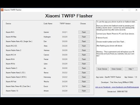 Xiaomi TWRP Flasher v1.0