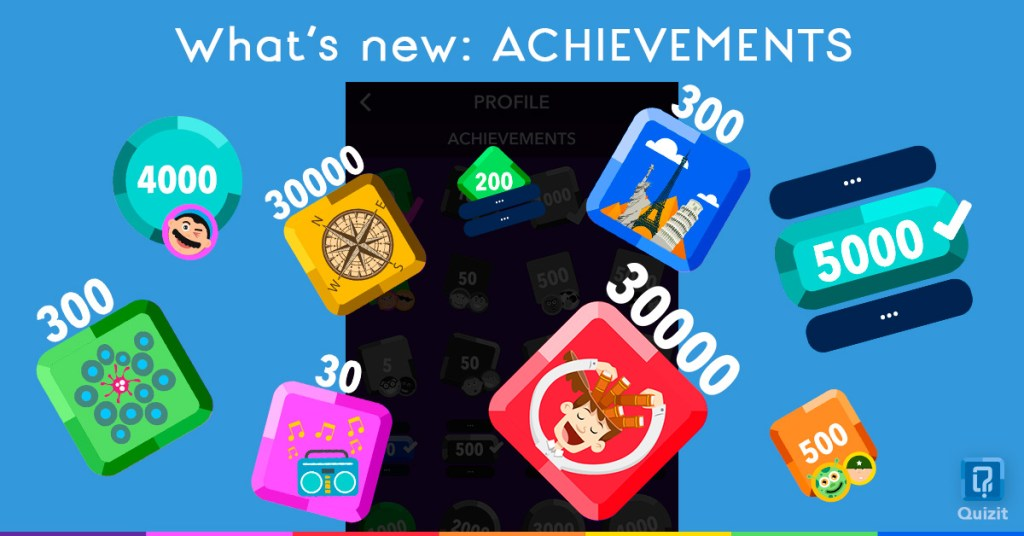 Quizit. What's new: Achievements.