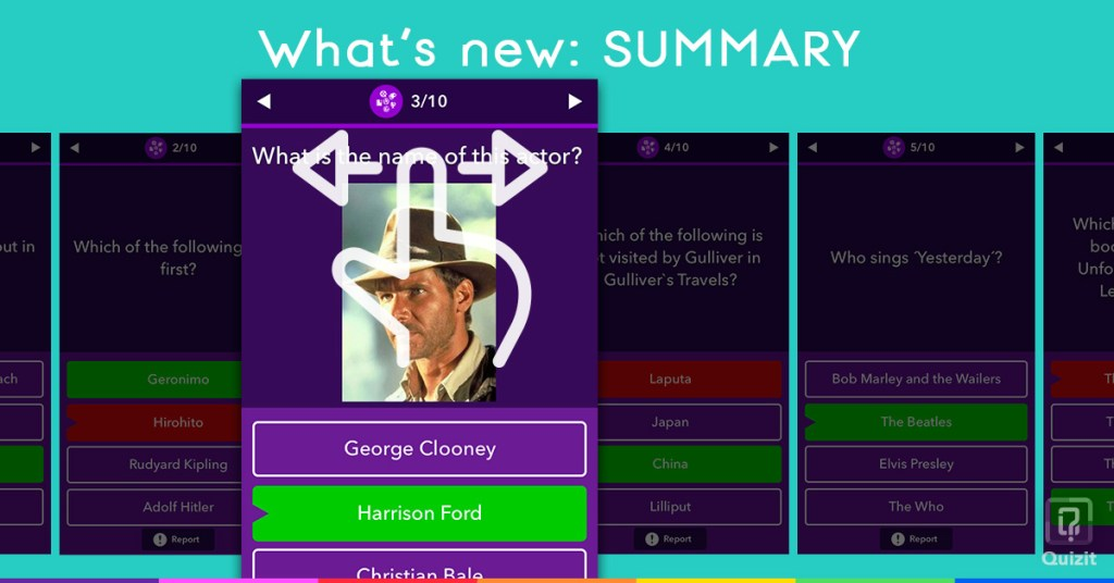 Quizit. What's new: Summary.