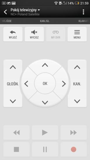 Aplikacja TV HTC One Max