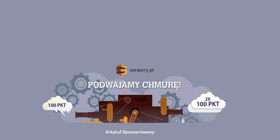 Chmura infrastrukturalna w serwery.pl z podwójnym doładowaniem gratis