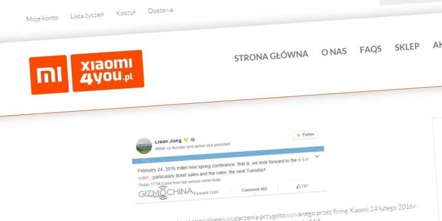 Rusza program przedsprzedaży Xiaomi Mi 5