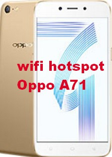 wifi hotspot Oppo A71, portable wifi hotspot setup manually