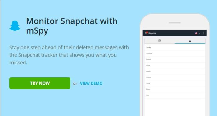 Snapchat monitoring for Samsung Galaxy Note 20