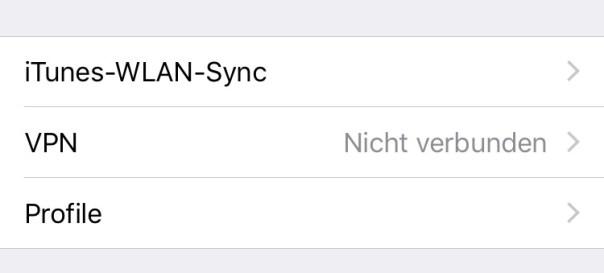 iPhone VPN verbinden