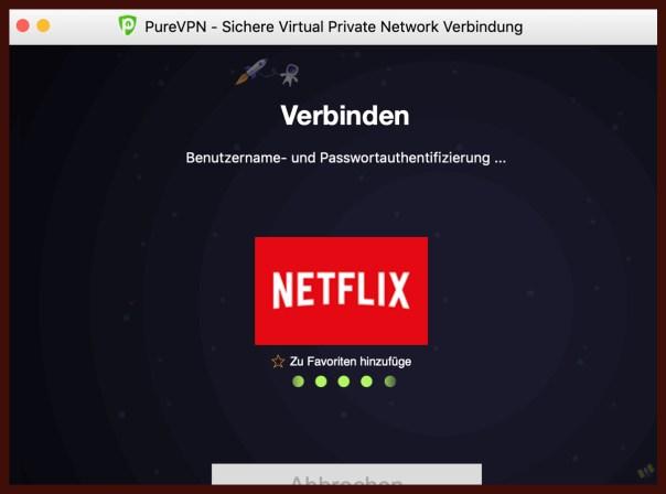 Streaming bei PureVPN
