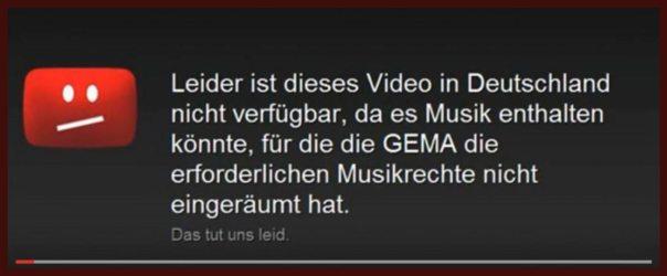 YouTube Geoblocking Beispiel