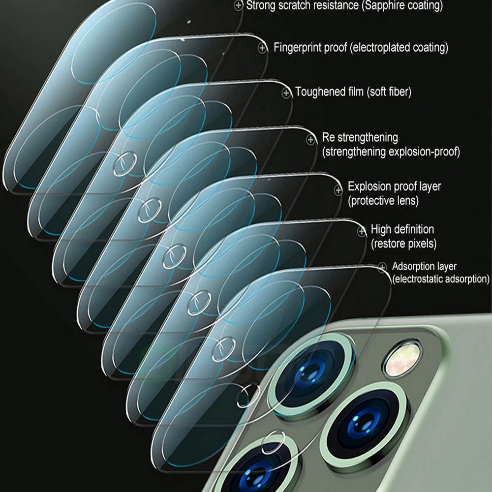 iPhone 12 Pro Back Camera Lens Protector Full Cover Tempered Glass