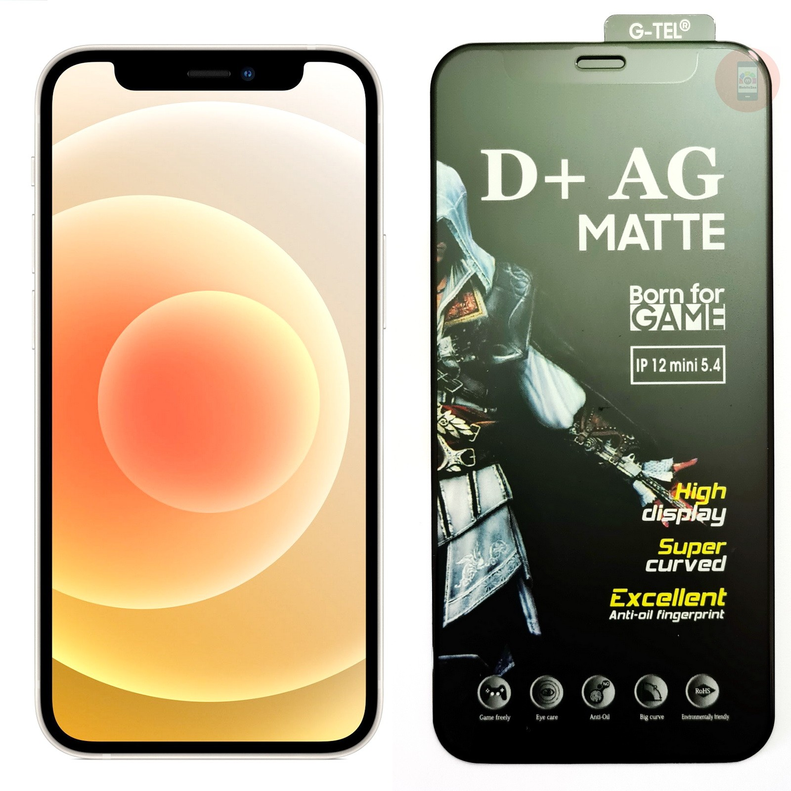 iPhone 12 Mini D+ AG Matte Tempered Glass Screen Protector
