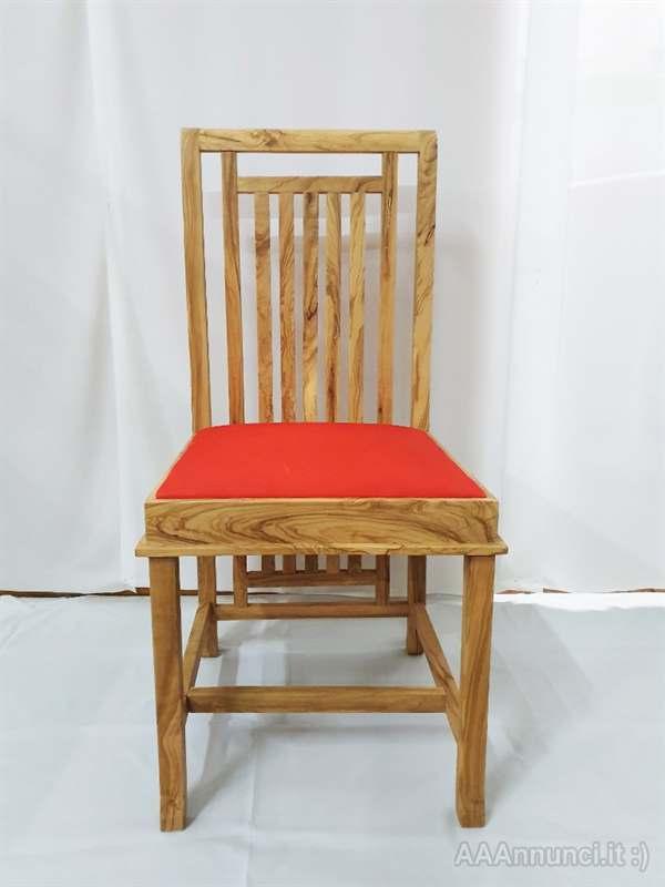 Scopri i modelli e le offerte disponibili: Sedia Di Design In Legno Di Ulivo Colore Rosso Potenza Basilicata