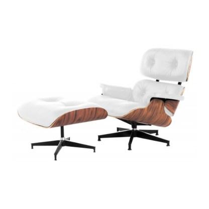 Lounge Chair+Ottoman | Palisandro & Piel Blanca