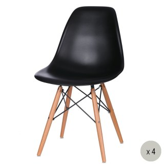 Silla Tower Wood Negra