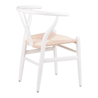 Silla Wishbone Blanca Hans Wegner Y Chair Replica